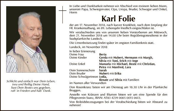 Karl Folie