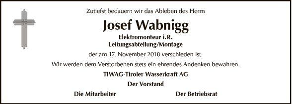 Josef Wabnigg