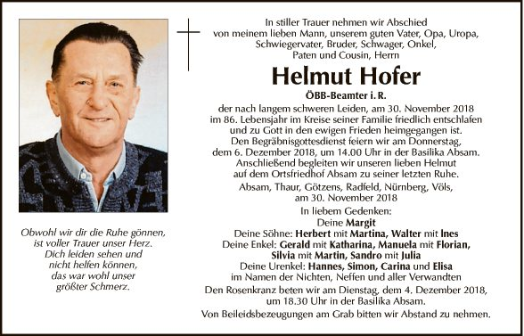 Helmut Hofer