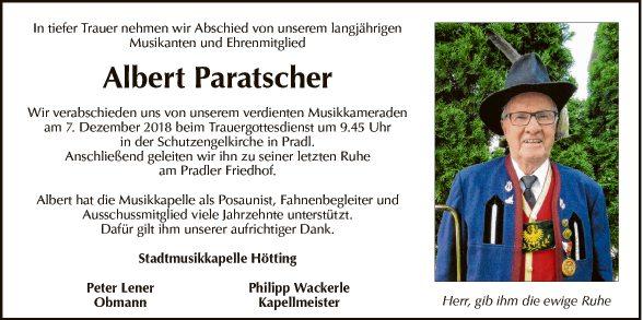 Albert Paratscher