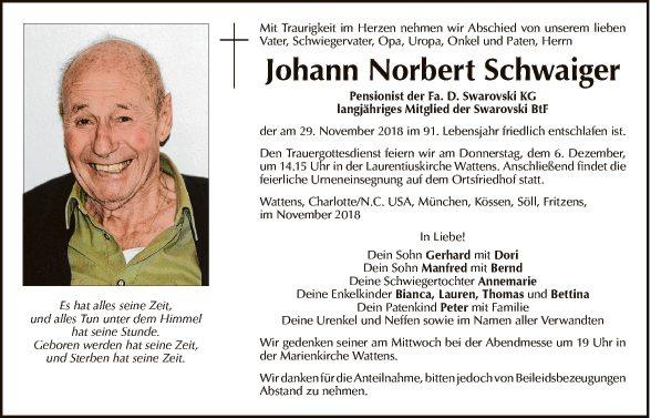Johann Norbert Schwaiger