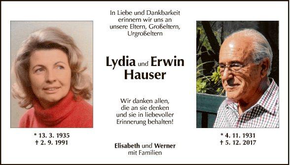 Lydia und Erwin Hauser