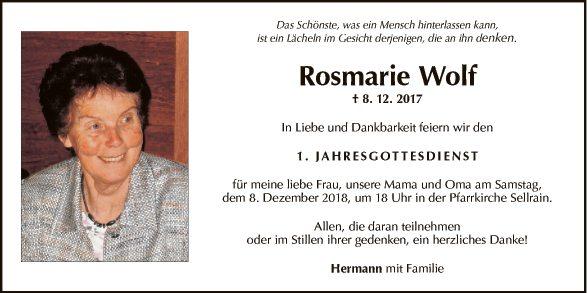 Rosmarie Wolf