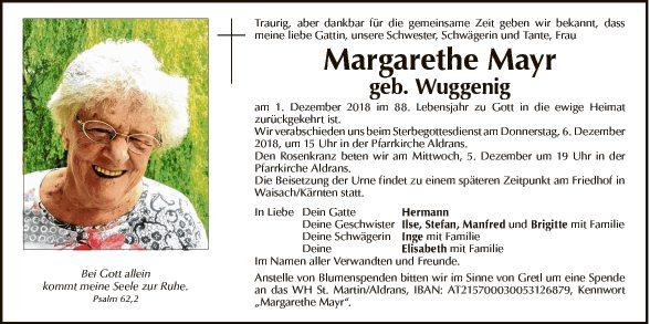 Margarethe Mayr