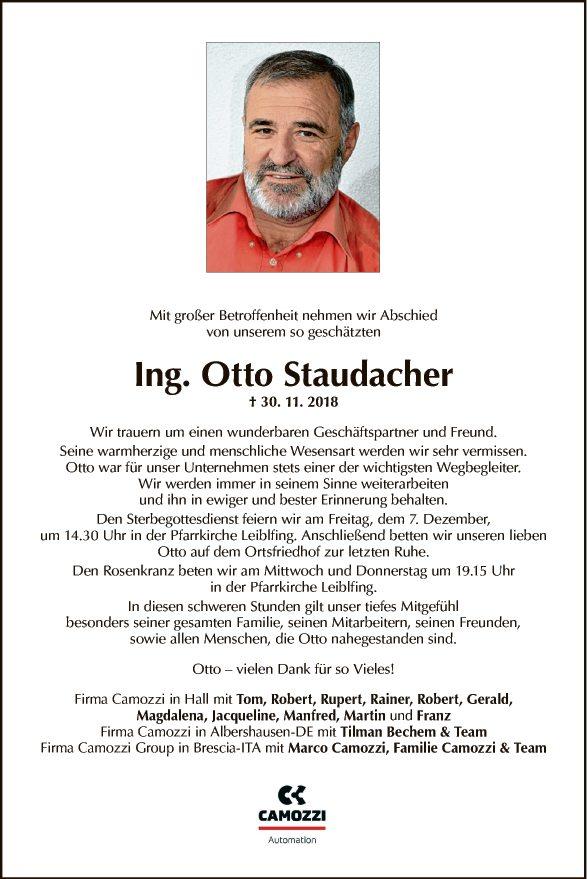 Ing. Otto Staudacher