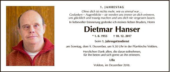 Dietmar Hanser