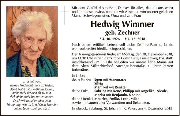 Hedwig Wimmer
