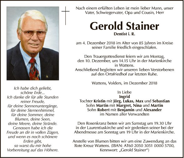 Gerold Stainer
