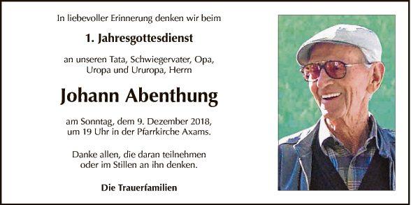 JG Johann Abenthung