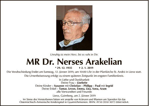 MR Dr. Nerses Arakelian