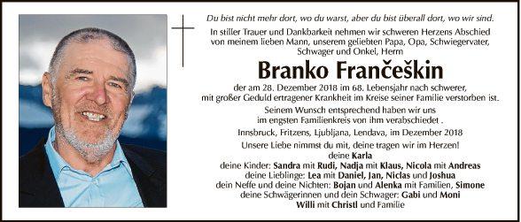 Branko Franceskin