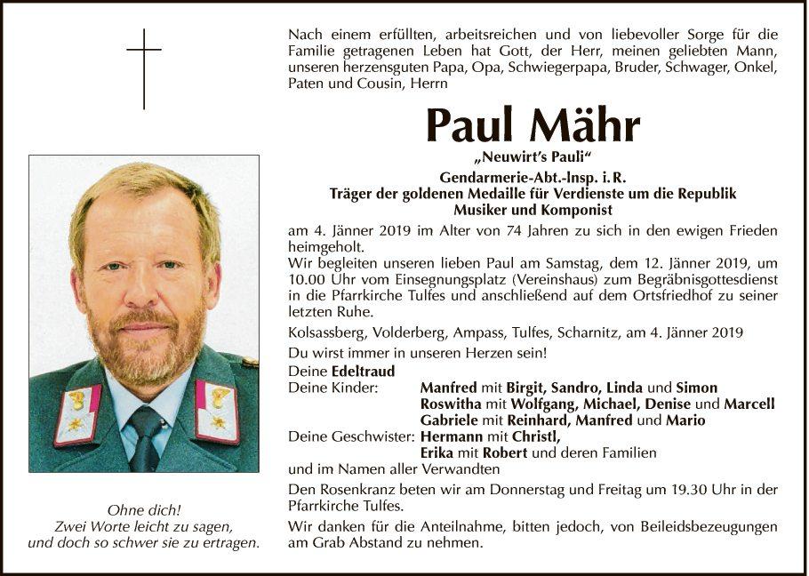 Paul Mähr