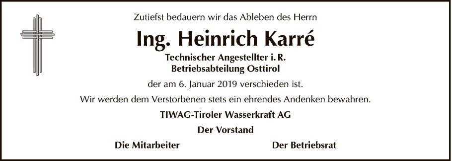 Ing. Heinrich Karré