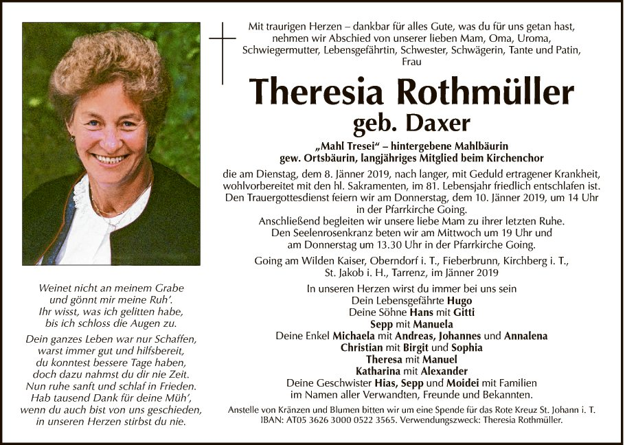 Theresia Rothmüller