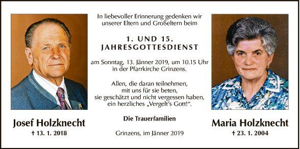 Josef und Maria Holzknecht