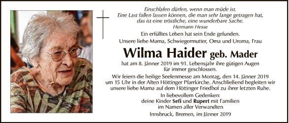 Wilma Haider