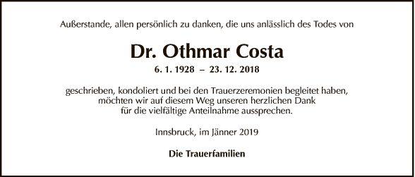 Dr. Othmar Costa