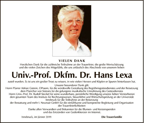 Univ.-Prof. Dr. Hans Lexa