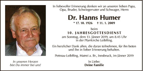 Dr. Hanns Humer