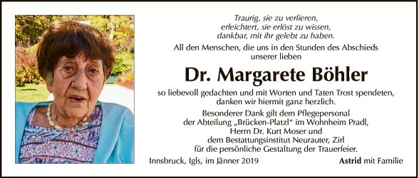 Dr. Margarete Böhler