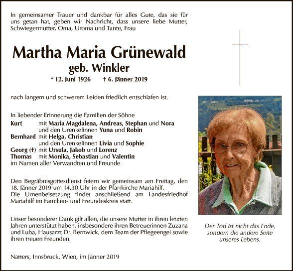 Martha Maria Grünewald