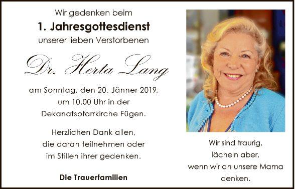 Dr. Herta Lang