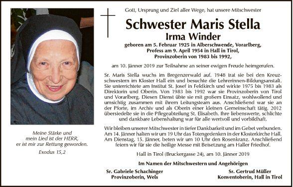 Schwester Maris Stella Irma Winder