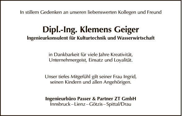 Dipl.-Ing. Klemens Geiger