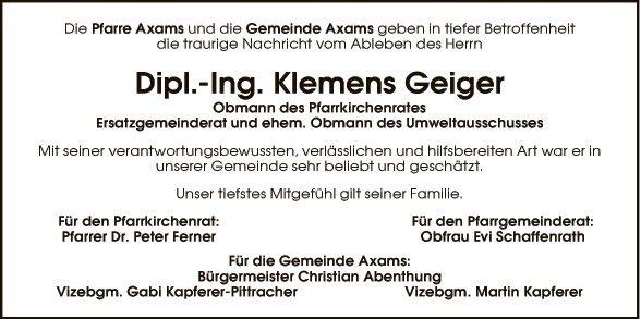 Dipl. Ing. Klemens Geiger