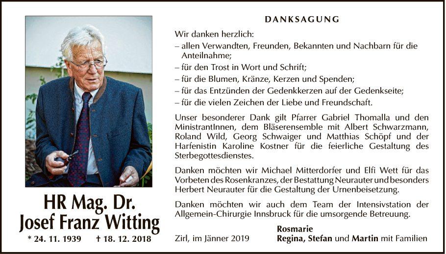 HR Mag. Dr. Josef Franz Witting