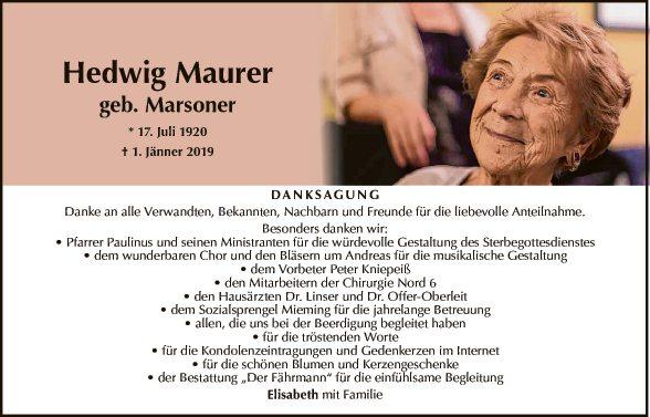 Hedwig Maurer