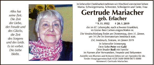 Gertrude Mariacher