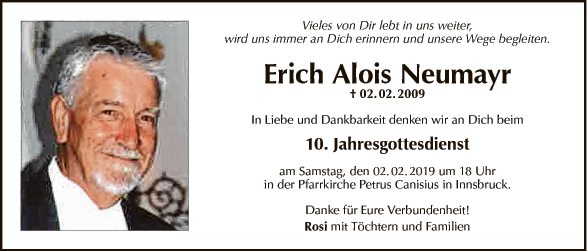 JG Erich Alois Neumayr