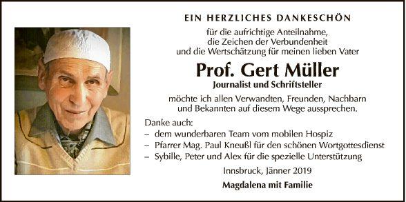 Prof. Gert Müller