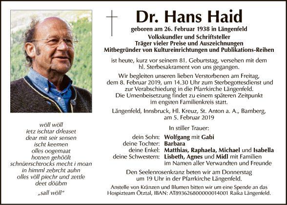 Hans Haid