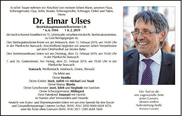 Dr. Elmar Ulses