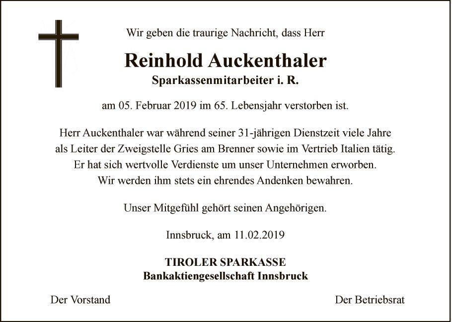 Reinhold Auckenthaler