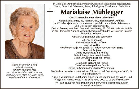 Marialuise Mühlegger