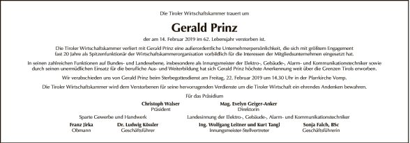 Gerald Prinz
