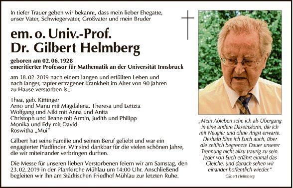 Gilbert Helmberg