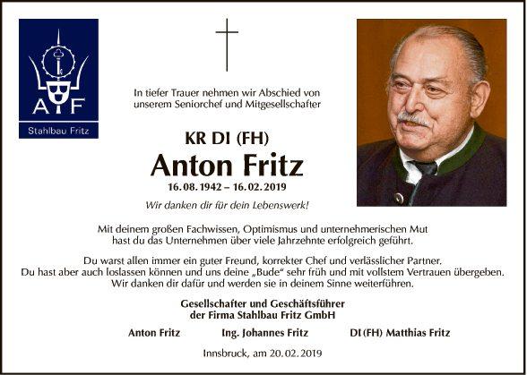 KR DI (FH) Anton Fritz