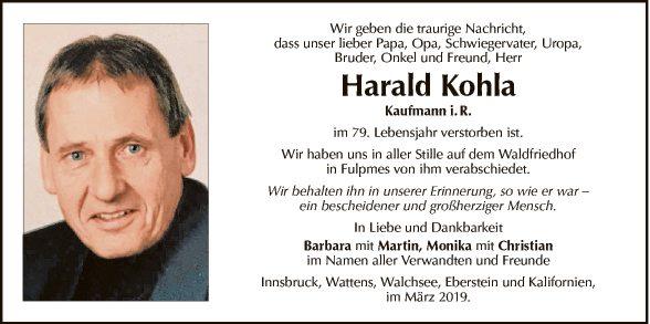 Harald Kohla