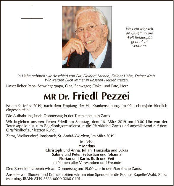 Prim. MR Dr. Friedl Pezzei