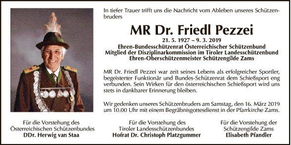 Dr. Friedl Pezzei