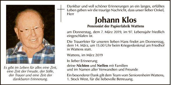 Johann Klos