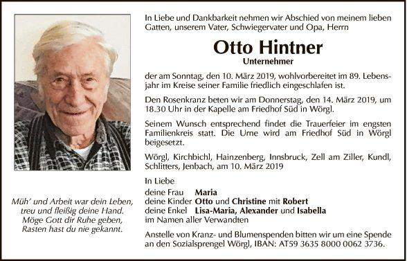 Otto Hintner
