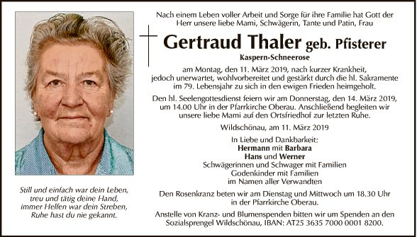 Gertraud Thaler