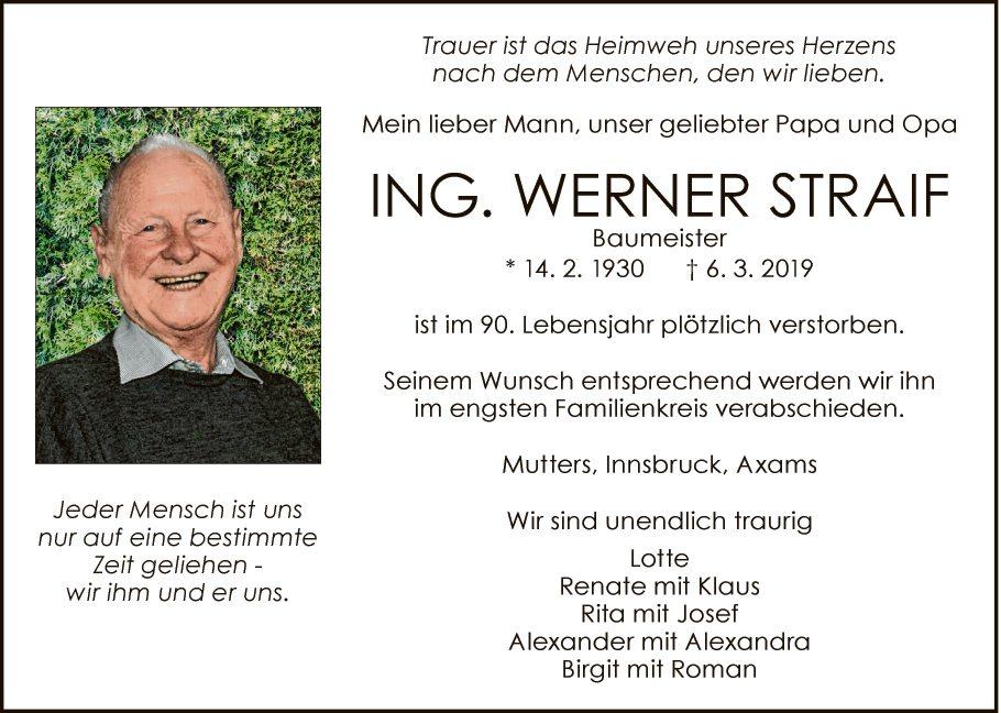 Werner Straif