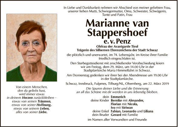 Marianne van Stappenhoef e. v. Penz