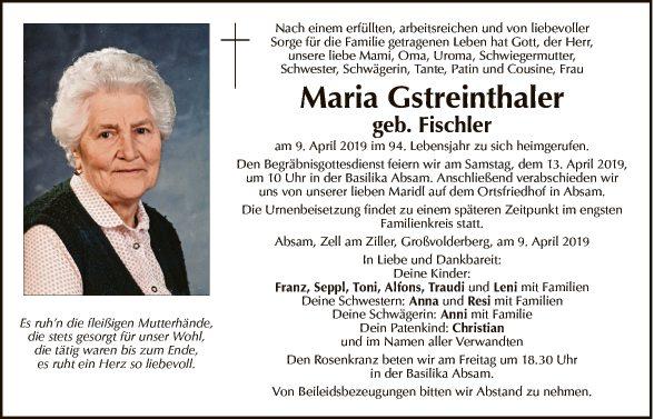 Maria Gstreinthaler
